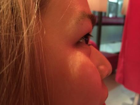 Ruby without false eyelashes